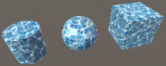 Caustics water texturing using Unity 3D